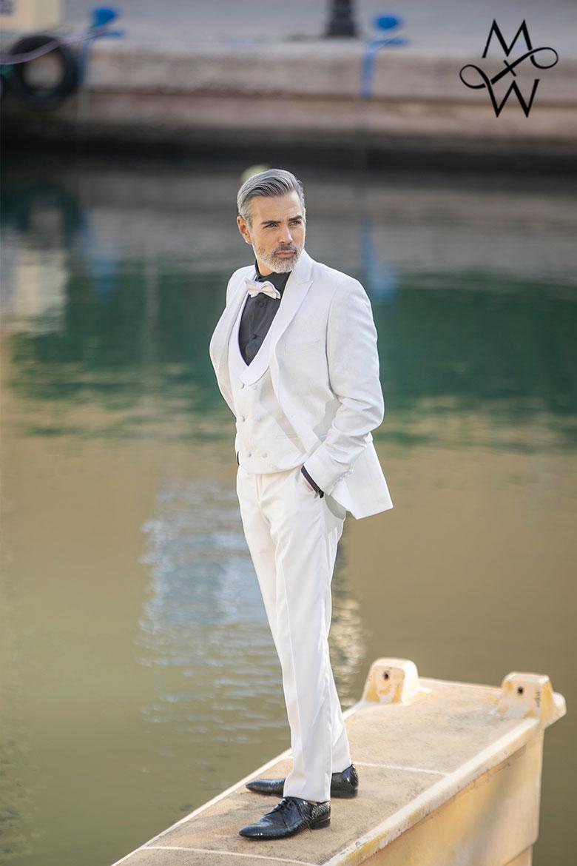 MeandMy SS21 Three Piece White Tuxedo